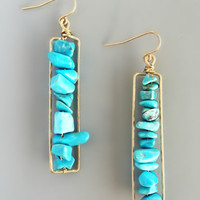 Turquoise Eliza Earrings