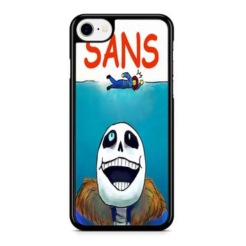 Undertale Sans Jaws Movie Poster iPhone 8 Case