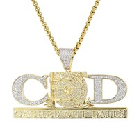 Cashed Out Daily Hip Hop Yellow CZ Custom Pendant