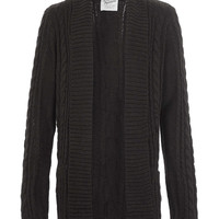 Black Textured Cardigan - Men's Cardigans & Sweaters - Clothing - TOPMAN USA