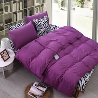 2016 4Pcs Home Leopard Solid Bedding Sets Flowers Cotton Bedding Set King Size Bed Sheet Duvet Cover Pillows Quilt No Comforter