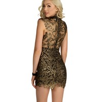 Promo-Black Strike Gold Bodycon Dress