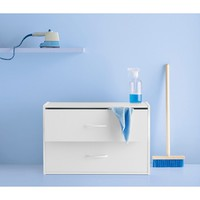 2-Drawer Storage Shelf - White - Room Essentials™