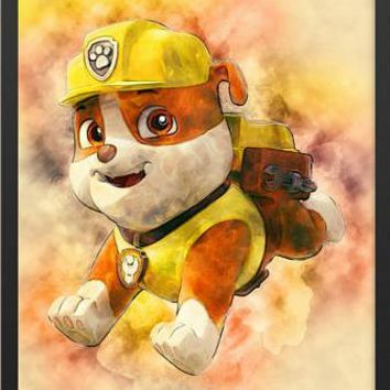 5D Diamond Painting Rubble from Paw Patrol Kit
