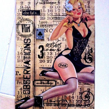 Meet Lucious  A Blank Pin Up Girl Greeting Card MATURE