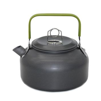 ICIKJG2 New 1 PC 1.2L Aluminum Tea Kettle Cookware Set Camping Pot Teapot Use For Outdoor Camping  Cooking Tools VEO69 T0.3