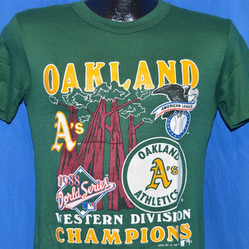 80s Oakland Athletics A's 1988 World Series AL Champions t-shirt Extra-Small