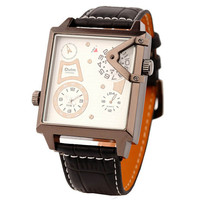 Mens Business Leather Strap Watch Army Style Watches Hight Quality Best Christmas Gift