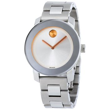 Movado Bold Polished Stainless Steel Ladies Watch 3600084