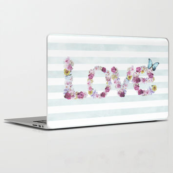 SPRING FLORAL LOVE Laptop & iPad Skin by Nika