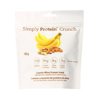 Protein Crunch Banana Caramel and Cashew Nut 3.7 Oz Bags - Pack of 6