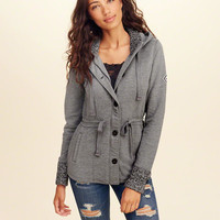 Girls Waisted Fleece Jacket | Girls Tops | HollisterCo.com