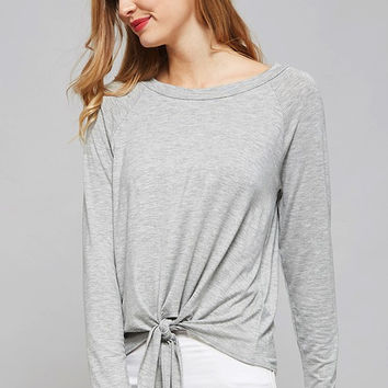 Front Tie - Long Sleeve Shirt