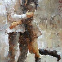 Andre Kohn The Kiss [Andre Kohn_A7203] - $99.00 oil painting for sale|Wonderful artwork|Buy it at once.