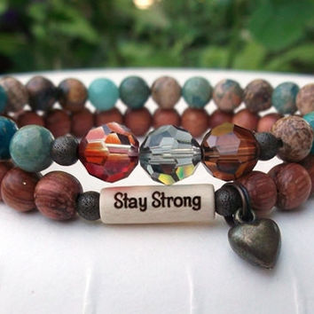 CHOOSE YOUR WORD Stay Strong Inspiration Bracelet