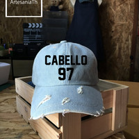 Camila Cabello Baseball Cap, Fifth Harmony, Denim Cap, Jean Cap, Low-Profile Baseball Cap Baseball Hat