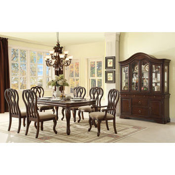 Homelegance San Anselmo Dining Table With 2*12In Leaf In Cherry