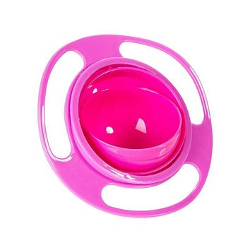 New Children Tableware Non Spill Bowl Toy Dishes Universal 360 Rotate Avoid Food Spilling Food Snacks Baby Shower
