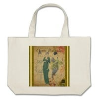French Postcard Tote Bag