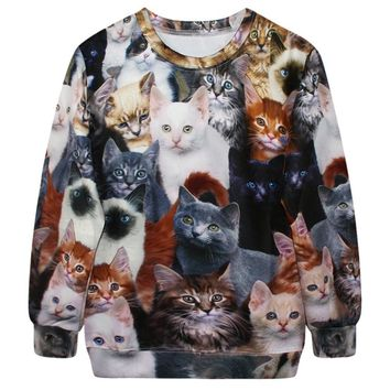 Lots of Cats Graphic Sweatshirt