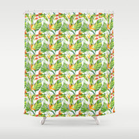 Watercolor Tropical Leaves And Flowers Pattern Collection By DazzetteMarie | Society6