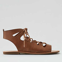 AEO Lace-Up Sandal , Natural