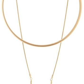 Matte Metal Layered Choker Necklace by Charlotte Russe