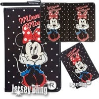 Polka Dot Minnie Mouse Faux Leather Case with FREE Minnie Mouse Gift