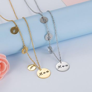 Women's Fashion  Stainless steel Trendy MOM Daughter Son Necklaces  Choker Love Boys Girls Pendants Jewelry