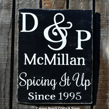 Kitchen Decor Couples Gift Valentines Wedding Sign Wedding Gift Personalized Sign Custom Dining Room Sign Housewarming Bridal Shower Gift
