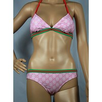 Gucci Fashion Halter Brassiere Underpant Set Two-Piece Bikini