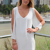 PRE ORDER - BILLOWING 2.0 DRESS (Expected Delivery 8th August, 2014) , DRESSES, TOPS, BOTTOMS, JACKETS & JUMPERS, ACCESSORIES, 50% OFF , PRE ORDER, NEW ARRIVALS, PLAYSUIT, COLOUR, GIFT VOUCHER,,White,CUT OUT,SHIFT Australia, Queensland, Brisbane