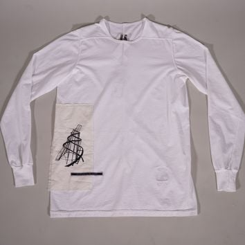 Rick Owens DRKSHDW Patch Long Sleeve Level Tee