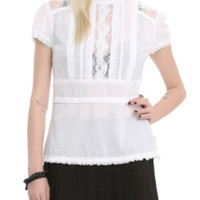 Royal Bones White Victorian Top
