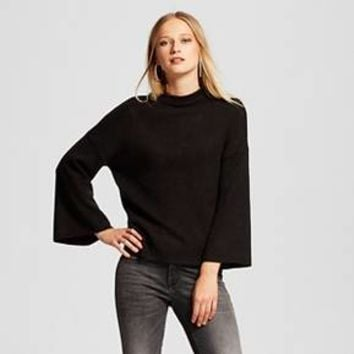 Women's Wide Sleeve Mock Neck Sweater - Who What Wear ™