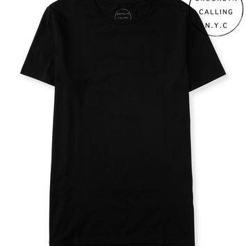 Brooklyn Calling Solid Longer Fit Tee