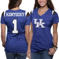 Kentucky Wildcats Ladies Valkyrie V-Neck T-Shirt - Royal Blue