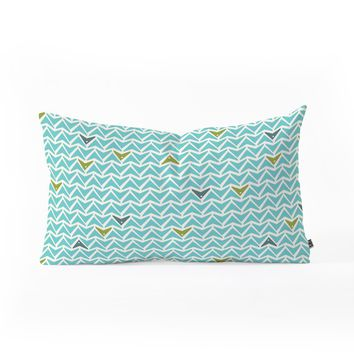 Heather Dutton Take Flight Aqua Oblong Throw Pillow