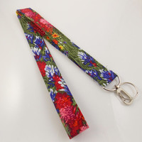 Wildflower Lanyard Flowers Floral Lanyard Teacher Lanyard Flower Lanyard Wildflowers Key Holder Flower Necklace
