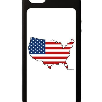 United States Cutout - American Flag Design iPhone 5C Grip Case  by TooLoud