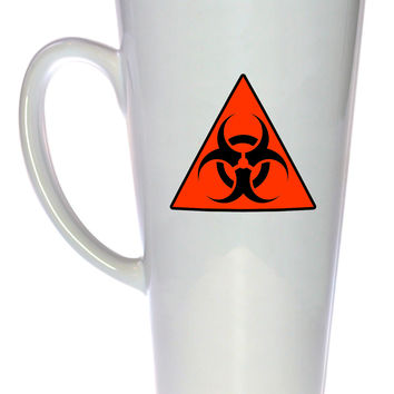 Biohazard Warning Coffee or Tea Mug, Latte Size