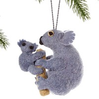 Mom & Baby Koala Fair Trade Felt Tree Ornament