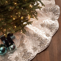 Chandelier Christmas Tree Skirt - Kim Seybert