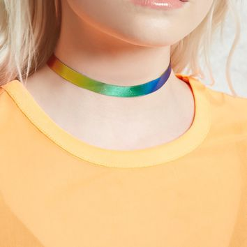 Rainbow Ribbon Choker