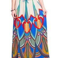 Egyptian Palate Maxi Skirt