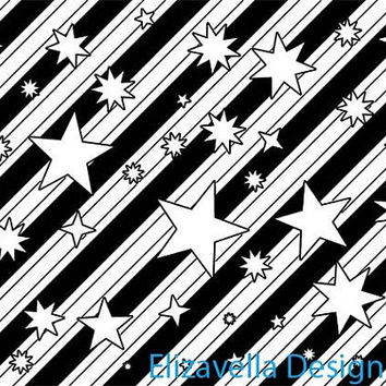 stars stripes png pattern digital background star pattern printable wall art black line art coloring png images template digital download