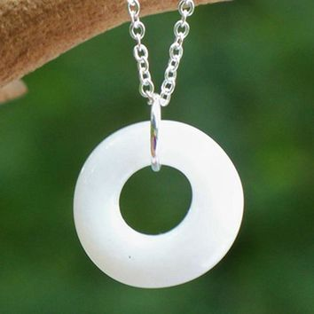 Glass Hoop Necklace
