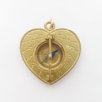 1960s Vintage German Sundial Compass Fob