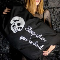 The Graveyard Shift - Sleep When You're Dead Pillowcases ~ Mysticum Luna