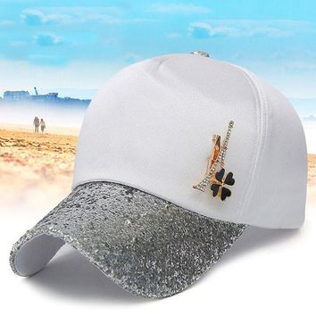 Sequins Baseball Cap Women Peaked Cap Full Snapback Caps For Femme Gift Summer Sun Hat Fashion Diamond Travel Caps